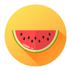 Melone Icon Flat Design Vektor Grafik Illustration