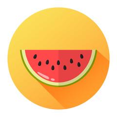 Melone Icon Flat Design Vektor Grafik Illustration