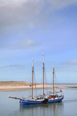 Boats sailing at Waddenzee Netherlands
