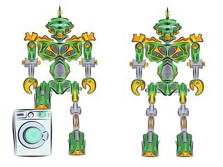 Robot transformer green