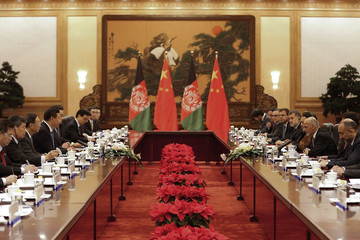 Xi meets Ahmadzai at the Great Hall of the People in Beijing