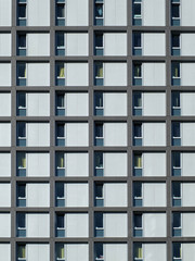 modern housing development with repeating pattern windows