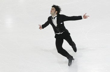 Contesti of Italy performs during men's short program at European Figure Skating Championships in Bern