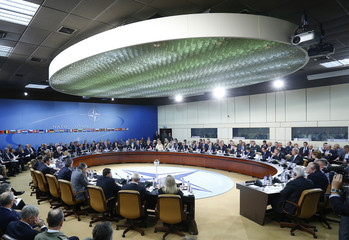 NATO defence ministers meet at the Alliance headquarters in Brussels