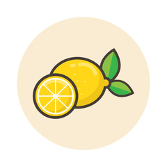 cartoon lemon icon vector