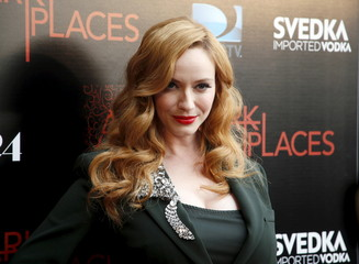"""Cast member Christina Hendricks arrives for the Los Angeles premiere of A24 and DirectTV's """"Dark Places"""" in Los Angeles"""