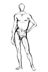 man position sketch