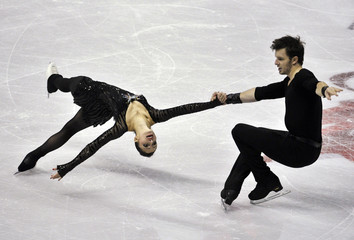 Berton and Hotarek of Italy compete in the pairs short program during the Skate Canada International figure skating competition in Windsor