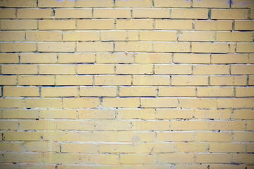 Brick yellow wall. background. texture