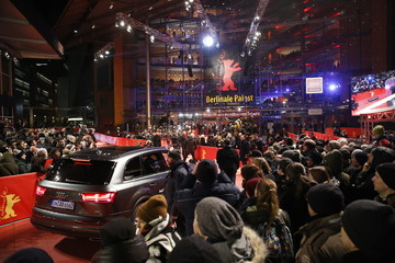 General view of the red carpet arrivals for the screening of the movie 'Django', during the opening gala of the 67th Berlinale International Film Festival in Berlin