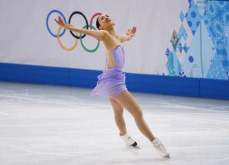 Japan's Mao Asada competes during the Figure Skating Women's Short Program at the Sochi 2014 Winter Olympics