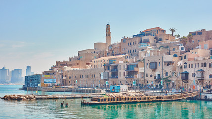 Jaffa old city, seaside view