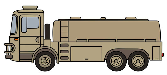 Sand military tank truck