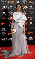 Ana Belen poses on the red carpet before the Spanish Film Academy's Goya Awards ceremony in Madrid