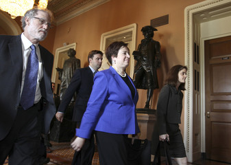 U.S. Solicitor General and Supreme Court Nominee Elena Kagan walks between meetings on Capitol Hill