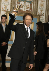 Film and television producer Jerry Bruckheimer, recipient of the ShoWest Lifetime Achievement Award, poses before the awards ceremony at the Paris Las Vegas during ShoWest