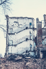 Ruined school building