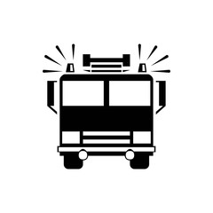 fire engine icon vector illustration. Flat design style