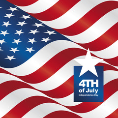 Independence Day 4th of July USA flag greeting card