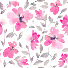 Romantic Pink Floral seamless Pattern.