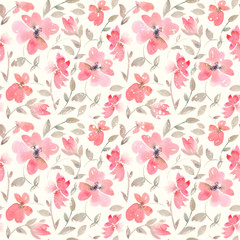 Romantic light red Floral seamless Pattern.