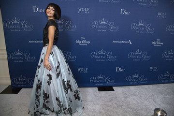 Actress and singer Zendaya poses at the 2014 Princess Grace Awards gala at the Beverly Wilshire Hotel in Beverly Hills