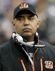 Bengals head coach Marvin Lewis on the sidelines during their NFL game against the Ravens in Baltimore