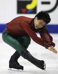 Kim of South Korea performs during the men's short program at the ISU World Figure Skating Championships in Nice