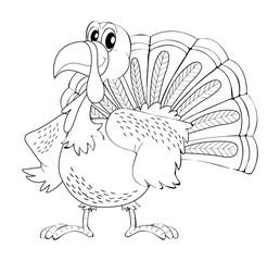 Animal outline for turkey