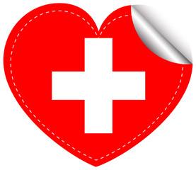 Sticker design for flag of Switzerland