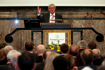 European Commission President Juncker delivers a Winston Churchill anniversary speech at the University in Zurich