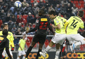 FC Basel's Almerares scores a goal during their Swiss Super League soccer match against Neuchatel Xamax in Neuchate