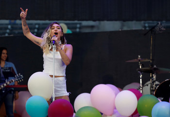 Cyrus performs at Wango Tango concert in Carson