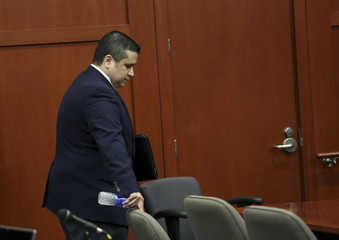 George Zimmerman arrives on the fourth day of jury selection at Seminole circuit court in Sanford