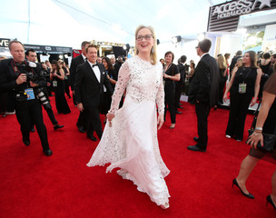 Actress Meryl Streep arrives at the 23rd Screen Actors Guild Awards in Los Angeles