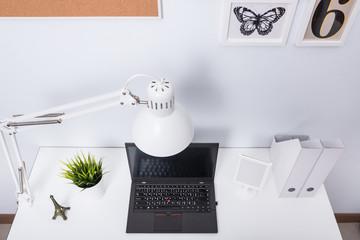 Modern home office notebook laptop computer