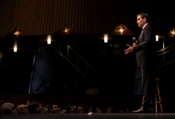 U.S. Republican presidential candidate Marco Rubio speaks during a campaign town hall at Francis Marion University in Florence