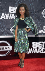 Yara Shahidi arrives at the 2015 BET Awards in Los Angeles