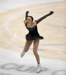 Rika Hongo of Japan competes at the ladies free skating program during China ISU Grand Prix of Figure Skating, in Beijing
