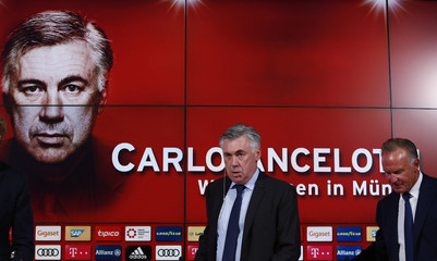 Bayern Munich News Conference - Coach Ancelotti