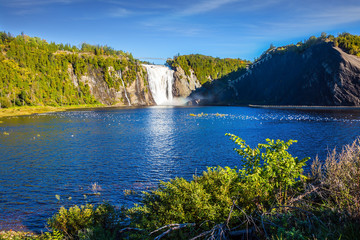 Huge waterfall Montmorency
