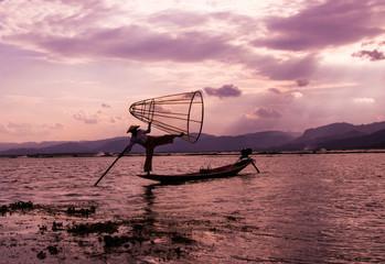Inle lake fisherman