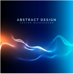 Abstract technology background with wave effect