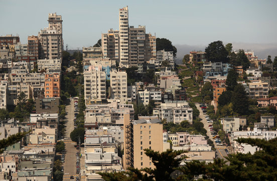 The streets of San Francisco, including Lombard Street , are seen in San Francisco