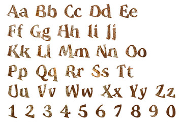 Wooden letters of the English alphabet