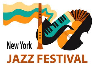 Jazz Festival / Creative conceptual music festival vector.
