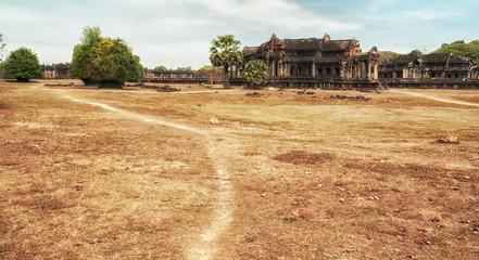 Ancient library in Angkor Wat, Cambodia