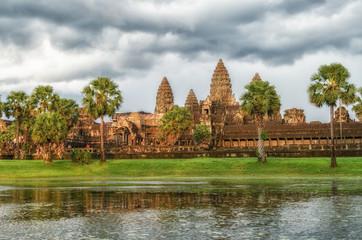 Angkor Wat Temple at sunset, Siem reap, Cambodia.