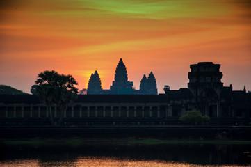 Sunset at the Angkor Wat