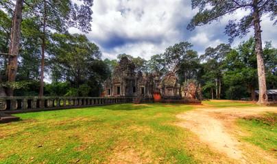 Chau Say Tevoda temple in Angkor temples complex, Cambodia, Asia